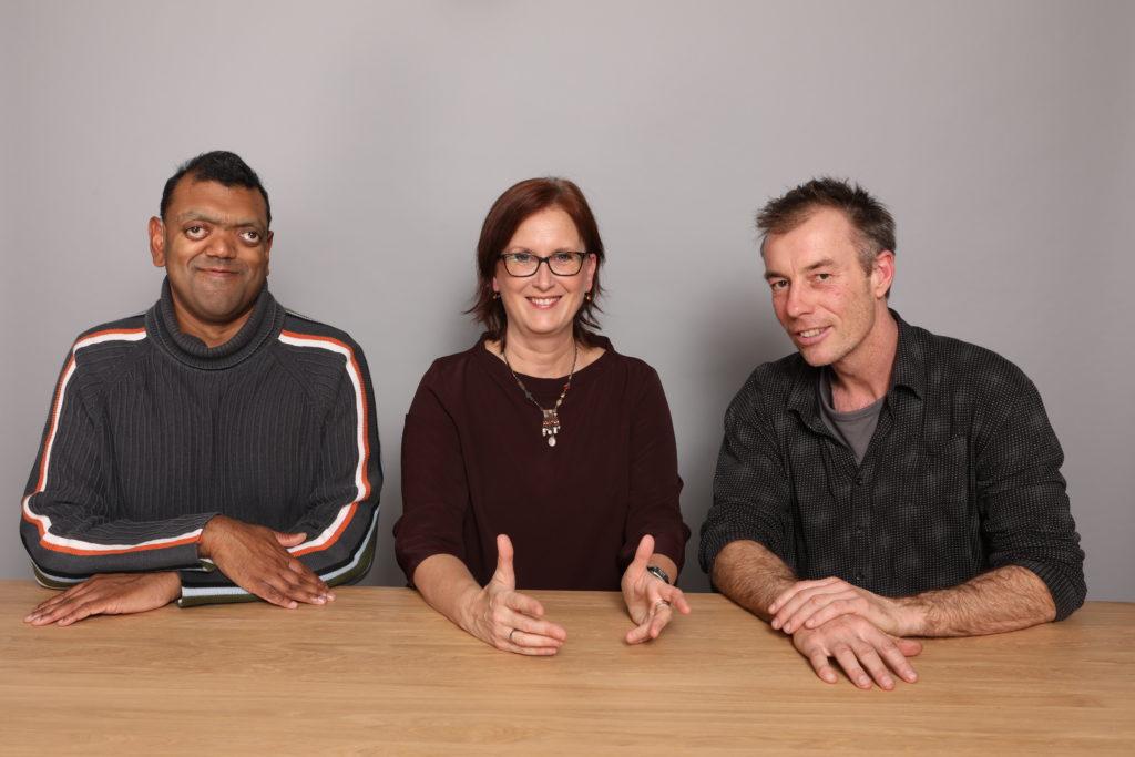 Die Ansprechpartner Domingos de Oliveira, Marion Theisen und Ulrich Steilen